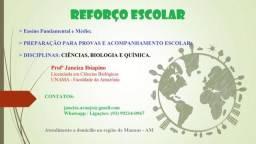 Reforço Escolar - Biologia, Ciências e Química
