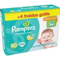 Fraldas Pampers Confort Sec XG