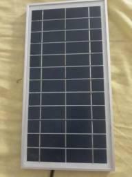 Kit solar placa bateria lampadas