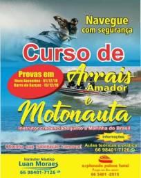 Curso Arrais Amador e Motonauta - vagas limitadas