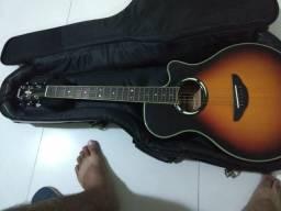 Vendo ou troco em corrente de ouro violão Yamaha apx 500 3