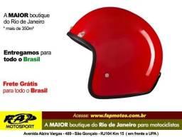 Capacete Lucca Aberto Moto Vermelho o Melhor Preço do Rio