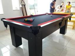 Mesa de Bilhar Tecido Preto Cor Preta Tx Modelo IXR4121