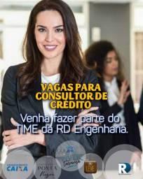 Vagas para área de vendas - consultores de crédito/Corretores de Imóveis