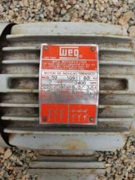 Motor de indução trifásico WEG, 2cv.