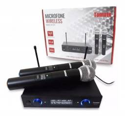 Microfones sem fios Tomate MT-2207 Alcance Máximo 60 metros