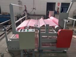 Rebobinador alinhador automático tecidos