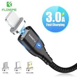 Cabo de carregamento magnético para celulares / Tipo C / IOS /  Micro USB