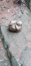 Lobo arte fazendo arte vasos de cimento artesanal