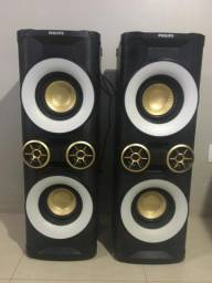 Mini System Philips NTX800X/78 com MP3, Bluetooth, Duplo USB e Ripping ? 3.200 W