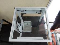 corte e vinco e gravadora quadro de silk vidro mede 35x35 cm