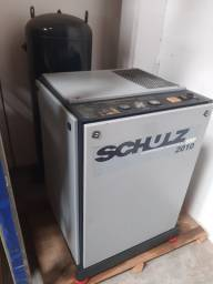 Compressor industrial com reservatorio