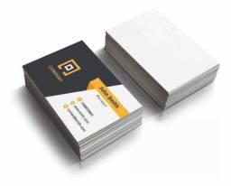 Três Mil Cartões de Visita - Papel 250g - Verniz Total Frente - Colorido Somente Frente