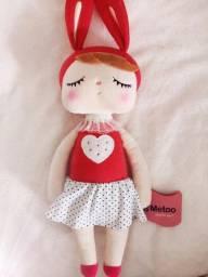Boneco de pelúcia metoo, brinquedo de coelho fofo 2 bonecas na promoção