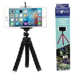 Mini Tripé Flexível Suporte Celular E Câmeras - Inova