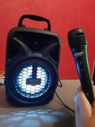 Caixa de som Mini só grátis microfone