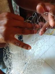 Tarrafa toda feita a mão linha 0.50 sacaria com linha 0.60