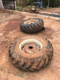 Conjunto roda montada pra trator mf 50x 235