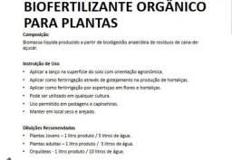 Bio fertilizante orgânico foliar
