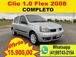 Renault Clio 1.0 Completo 2008 - Aceito Troca - Financio