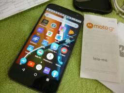 Smartphone dual chip,s 16 gb, Motorola G4 plus tá novinho