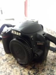 Nikon 3100 + Tripé + Lentes 18/55 + Lente Macro + Bolsa + Temporizador