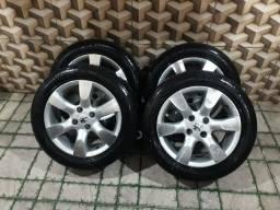 Vendo rodas aro 205 / 55/ 16 valor 2.000 reais faço negócio
