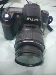 Máquina fotográfica Nikon D80, flash,  bateria,  carregador