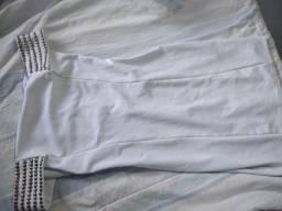 Vestido branco lindo tamanho P