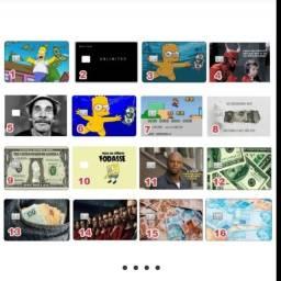 Adesivos personalizados P/ Cartão Débito, Crédito e Ticket