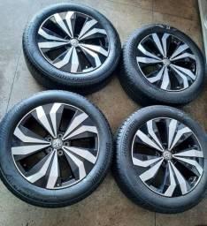 Jogo de Rodas Vw TCross 2021 Original Semi nova pneus novo
