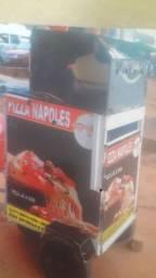 Carrinho de pizza móvel