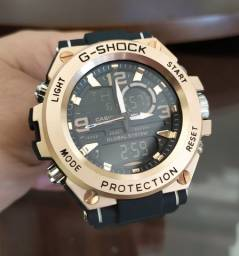 G-shock steel aço escovado cor bronze