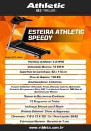 Esteira Super Premium Residencial Athletic Speedy 2021 Bivolt 12km/h + Sensor de Pulso