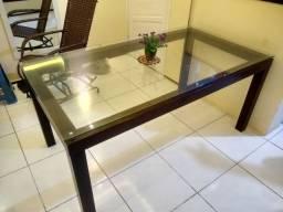 Mesa de vidro 6 lugares!