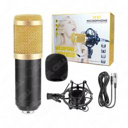 Microfone Condensador p/ Pc e Notebook - Cabo 1.80m (BM800)