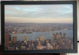 Quadro Nova York - moldura preta