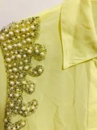 Camisa Amarela Bordada PatBo 44