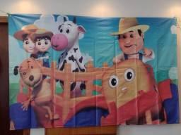 Banner de aniversário Farmes - fazendinha