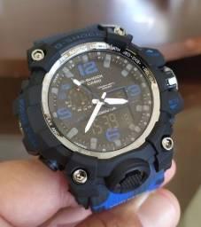 G-Shock Camuflado Azul digital /analógico - a prova d'agua