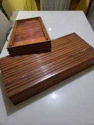 Moldura de madeira pura para aquario