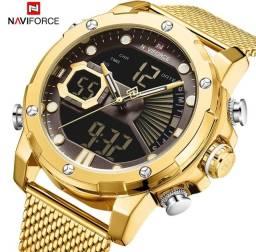 Título do anúncio: Naviforce relógio esportivo masculino original