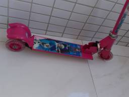 Patinete Frozen 3 Rodas Lateral Com Led