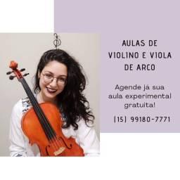 Aula semanais de Violino e Viola Erudita