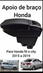 Descanso de braço Honda fit ano 2015 a 2020