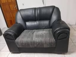 Conjunto de sofá + puff usado