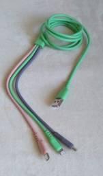 cabo carregador múltiplo 3 em 1