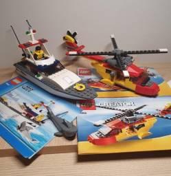 Lego 5866 Creator Rotor Rescue + 4642 City Fishing Boat