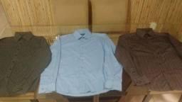 3 Camisas sociais tamanho P adulto