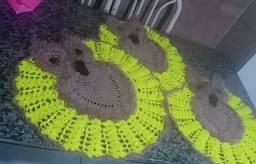 Tapetes de crochê e bichinhos de crochês